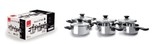 Set 6pcs Cooking Pots S/Steel Optima Line - IBI0000957