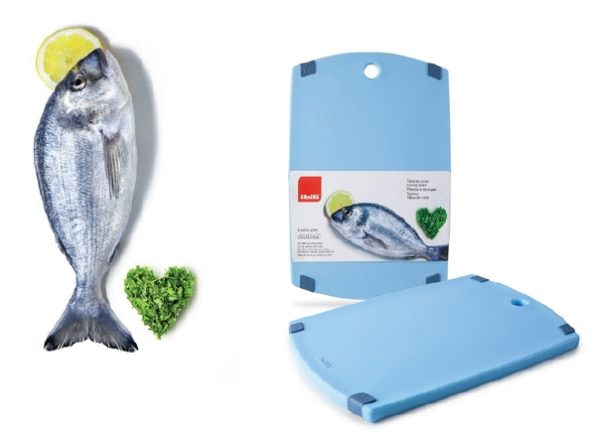 Cutting Board 33x23x1.5 Blue (Fish) - IBI0749433A