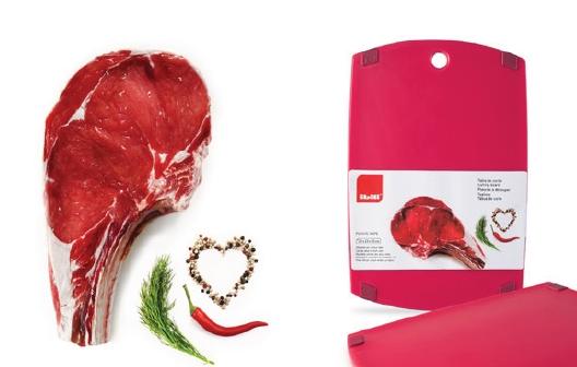Cutting Board 33x23x1.5 Red (Meats) - IBI0749433R