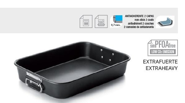 Roast Pan with Folding Handles Iron 40x28cm - IBI0828340